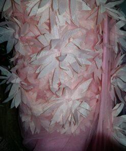 Organza la metru flori 3D