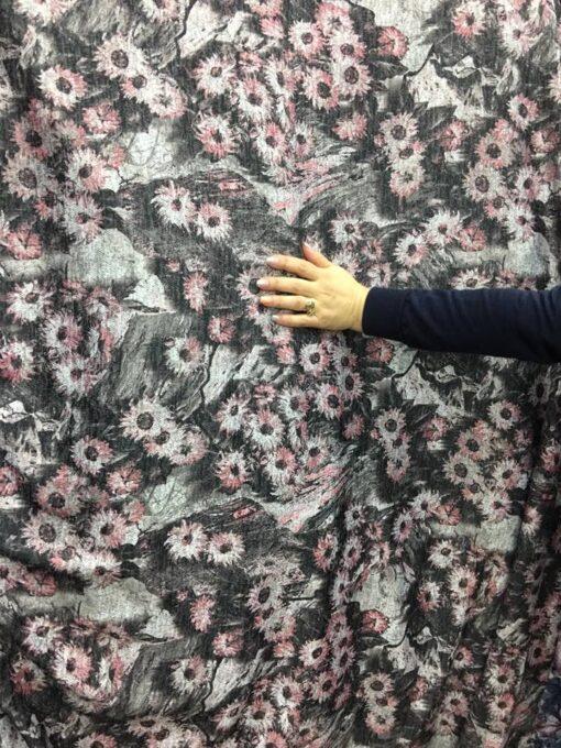 Jersey cu imprimeu floral pret