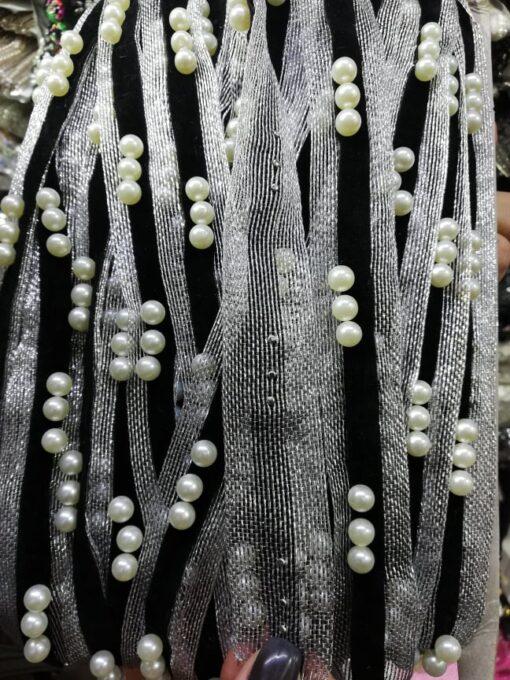 Aplicatie catifea cu perla