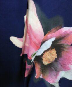 Stofa subtire cu floare