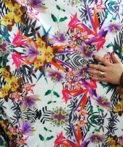 Scafandru cu imprimeu floral