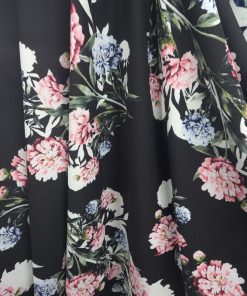 Material crep cu flori