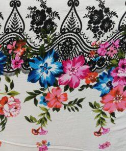 Bumbac imprimat floral