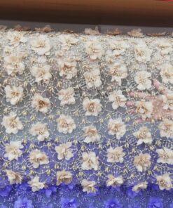 Material pentru rochii 3619 2 247x296 - Tull cu flori din voal (Video)