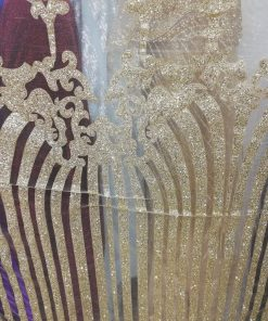 Tiul cu sclipici pentru rochii 20619 5 247x296 - Tiul cu sclipici auriu Q2 (video)