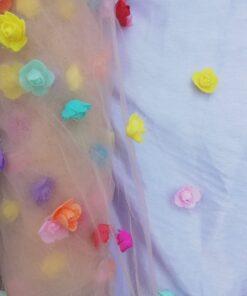 Tiul pentru rochii ieftin 10519 7 247x296 - Tiul cu flori din spuma
