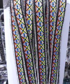 Banda brodata colorata online