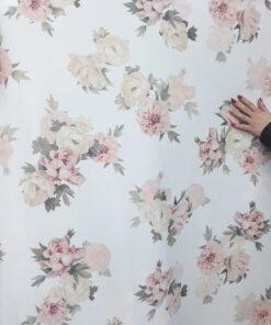 Crep cu flori imprimate