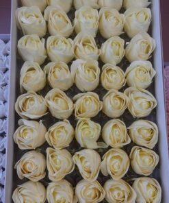 Flori de sapun crem