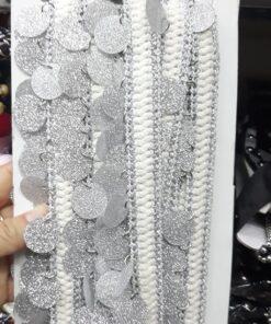 Banda cu paiete argintii