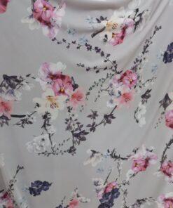 Lycra imprimata cu flori