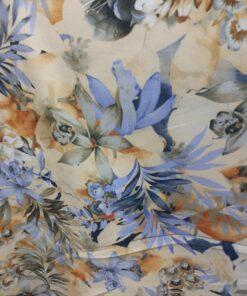 Stofa subtire imprimata floral