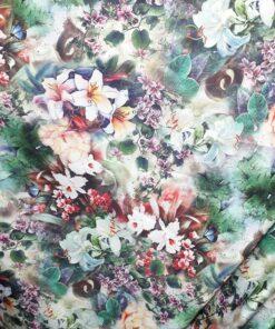 Tafta cu imprimeu floral