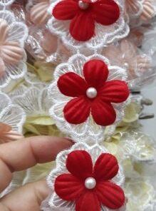 Banda brodata floare