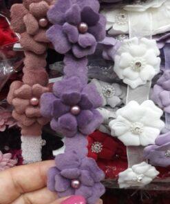 Banda cu flori catifea