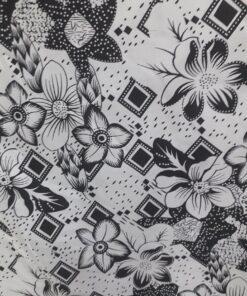 Saten imprimat cu flori