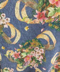 Jersey cu flori metraj