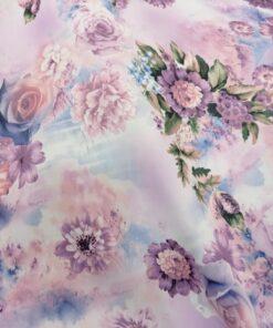 Material draperii cu flori